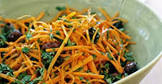 carrot salad with olives  honey and cumin