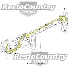hz wiring loom hz image wiring diagram holden twin headlight horn wiring loom harness hx hz h4 h1 new on hz wiring loom