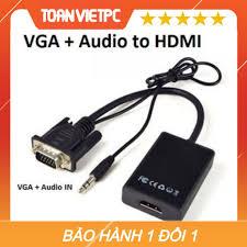 SO SÁNH GIÁ CÁP TÍN HIỆU CHUYỂN ĐỔI VGA SANG HDMI CÓ AUDIO - VGA TO HDMI CÓ  AV | Shopee Lazada Sendo Tiki | Nên mua ở đâu rẻ nhất -