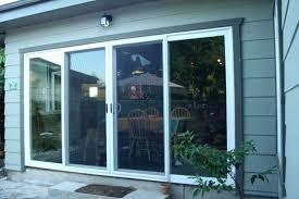 3 panel sliding glass doors door exterior