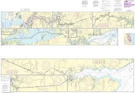 Noaa Nautical Chart 12206 Intracoastal Waterway Norfolk To Albemarle Sound Via North Landing River Or Dismal Swamp Canal