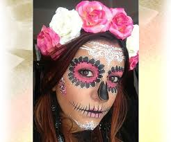 sugar skull makeup go natural