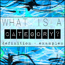 What is a Category? Definition and Examples