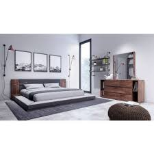 modern bedroom sets. Nova Domus Jagger Modern Dark Grey \u0026 Walnut Bedroom Set Sets S
