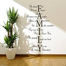 Fabricmcc Wall Sticker Citation Family Love Life For Hall Lounge