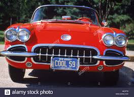 Red 1959 Chevrolet Corvette Convertible classic collectors car at ...
