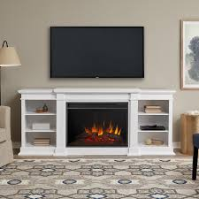 real flame eliot grand 81 inch electric fireplace entertainment center white 1290e