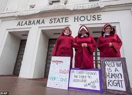 Image result for cartoon handmaids tale abortion
