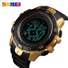 Skmei Men's <b>Watches LED</b> Digital Wrist <b>Watch</b> Black Alarm 50m ...