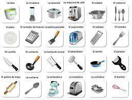 en la cocina vocabulario spanish kitchen vocabulary for