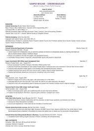 Academic Resume Samples Undergraduate Student Resume Examples Resume Sample For Students
