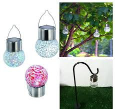 2019 led color changing solar lamps garden lawn light stake path le glass ball light glass garden lights led outdoor solar light lamp from
