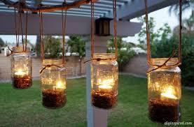 diy outdoor mason jar chandelier