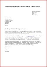 18 resignation letter of a teacher sendletters info resignation letter sample for a secondary school teacher by docbase