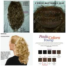 Paula Young Exclusive Color Chart New Paula Young Long Curly Textured Light Golden Brown Clip In Comb Ponytail 800286789282 Ebay
