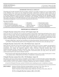 Resume Template Physician Assistant Resume Examples Free Career