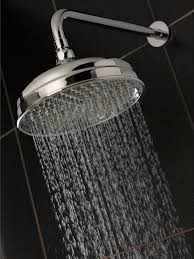 traditional 200mm fixed shower head chrome with swivel ball joint and concealed wall arm