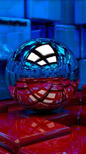 Metal Ball : Blue And Red Wallpaper for ...