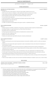 data center engineer resumes data center engineer resume sample mintresume