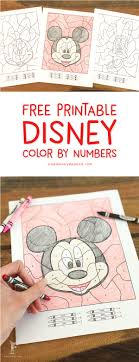 Best free coloring pages for kids & adults to print or color online as disney, frozen, alphabet and more printable coloring book. Free Disney Color By Number Printables