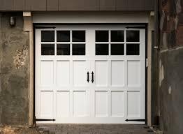 carriage garage doors white