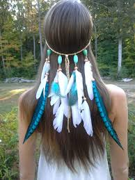 turquoise princess feather headband native american indian