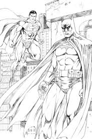 Batman And Superman Coloring Pages For