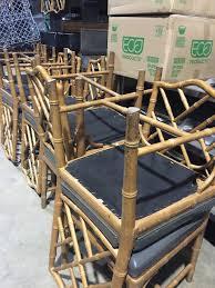 bamboo dining chairs. Faux Bamboo Dining Chairs #vintage #diningroom #repurposedchairs #chippendalechairs Www.homewithkeki.