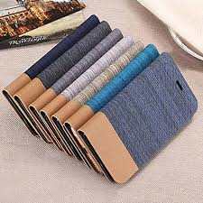 ikraft business style ultrathin jeans canvas flip cover for xiaomi redmi note 3