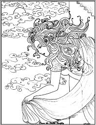Free Coloring Page Coloring Adult Woman