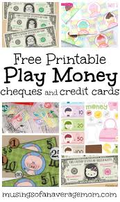 Printable Play Money Musings Of An Average Mom Pretend Play Money