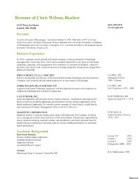 Real Estate Resume Cover Letter Cover Letter Great Sample Real Estate No Experience About 34