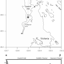 Map Of Saanich Inlet Si Top And Cross Sectional Depth