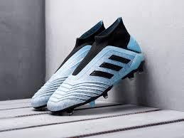 <b>Футбольная обувь Adidas Predator</b> 19+ FG цвет Синий купить по ...