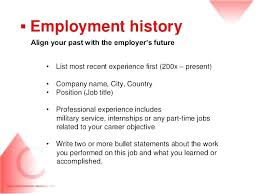 Employment History Resume Llun Stunning Employment History Resume