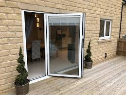 built in venetian blind bi fold door open blind up