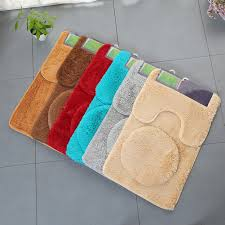image is loading 3pcs non slip bathroom rug set toilet cover