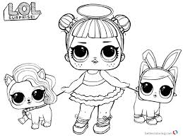 Lol Coloring Pages Sugar With Two Pet Dolls Free Printable