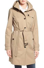 michael kors hooded trench coat 149