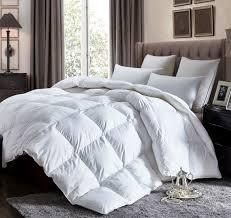 luxurious california king size lightweight goose down comforter duvet insert all season 1200 thread count 100 egyptian cotton 750 fill power