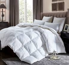 luxurious california king size lightweight goose down comforter duvet insert all season 1200 thread count 100 egyptian cotton 750 fill power