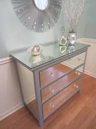 mirrored furniture ikea. Mirrored Dresser Silver Upcycled Ikea 3 Drawer Mirror (450.00 USD) By MirroredJewels Furniture M