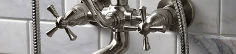 dxv randall wall mount bathtub faucet with hand shower banner