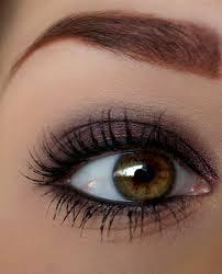 pretty brown eye makeup use garnet shadowsense to achieve this color and black lashsense mascara