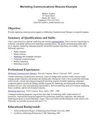 Communication Resume Examples - Template