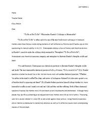 Example Of A Analysis Essay Sample Literary Analysis Essay High School Hamlet