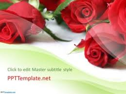 Ppt Flowers Free Rose Flowers Ppt Template