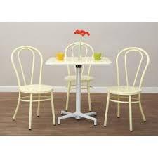 odessa pastel lemon metal dining chair set of 2