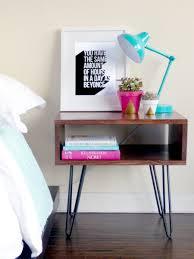 ultimate roundup of apartment friendly diys mid century nightstand