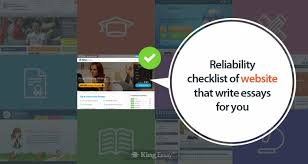 checklist of website that write essays for you reliability checklist of website that write essays for you